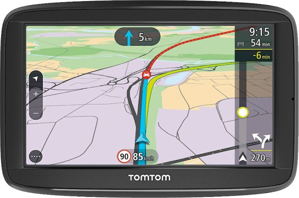 BROTECT® AirGlass® Glass Screen Protector for TomTom Via 52 - free