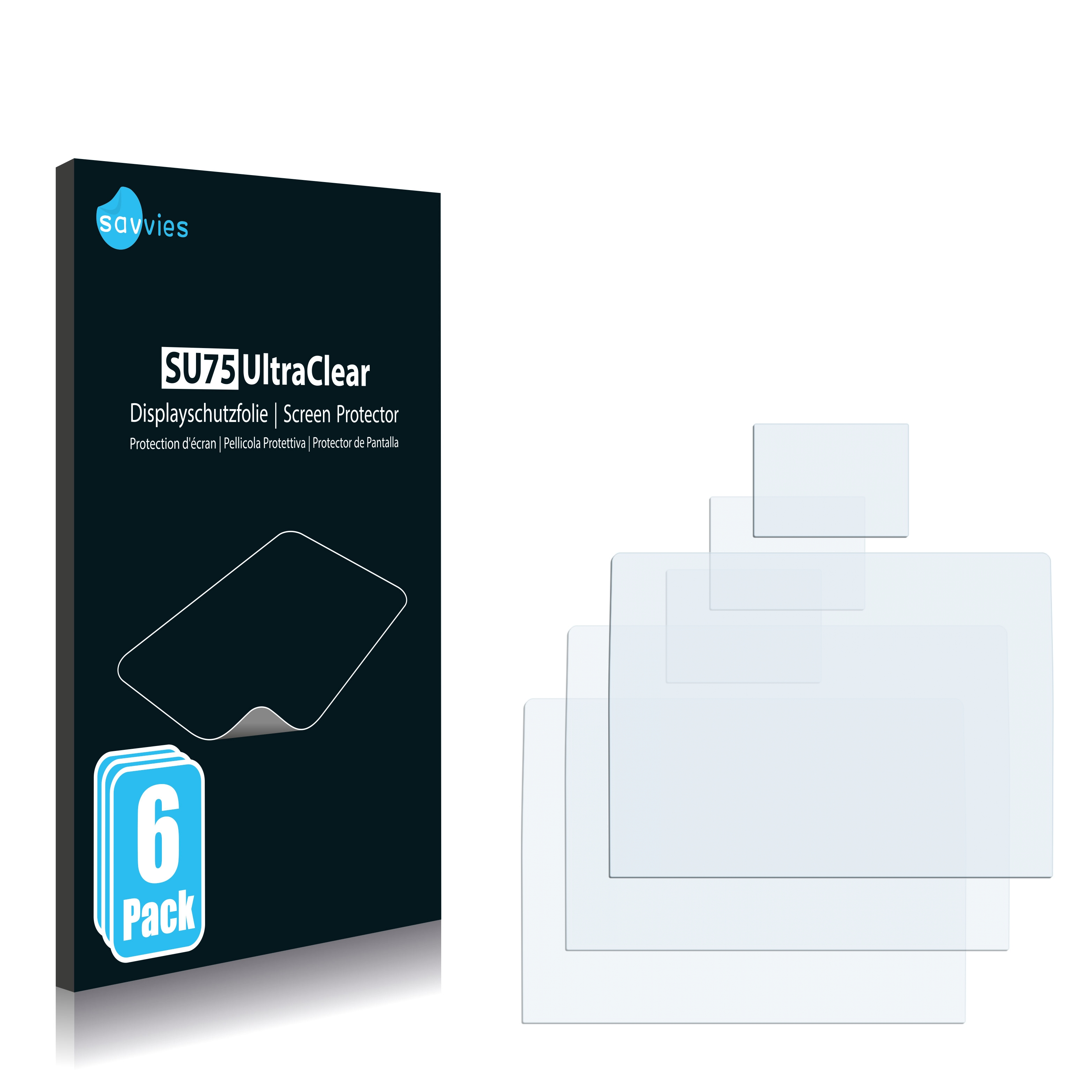 Protector de pantalla 6x para Nikon 1 j5 claro transparente protectora protector de pantalla