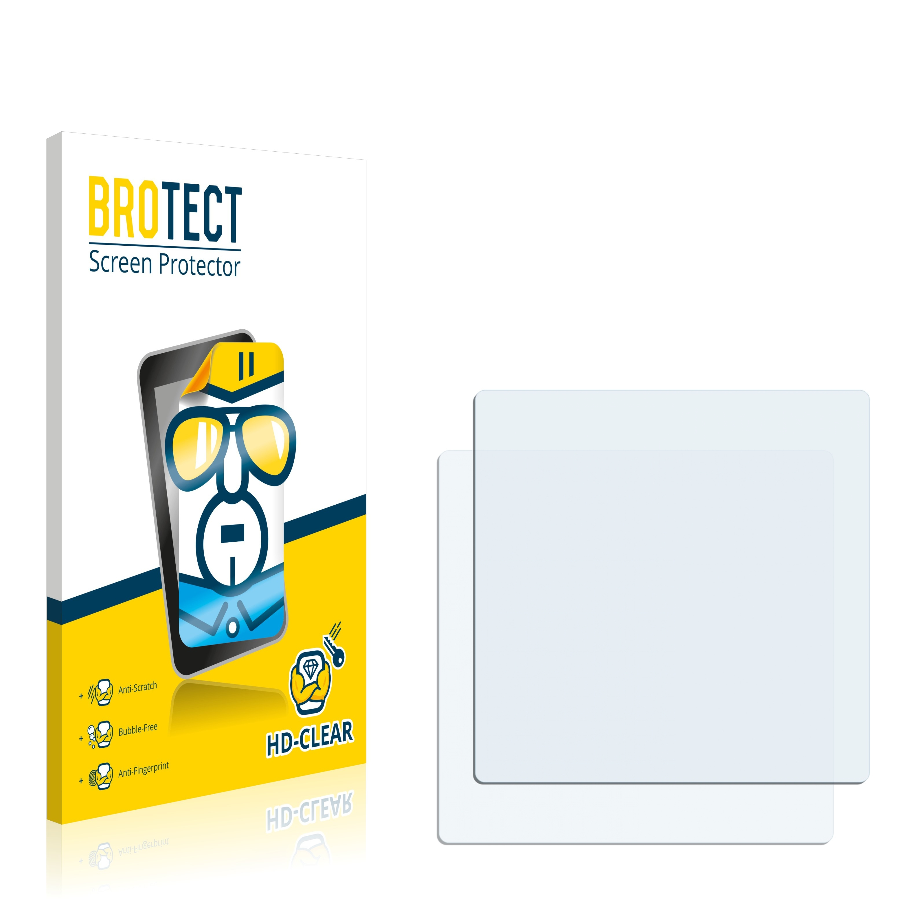 Dirt-Repellent Crystal-Clear Hard-Coated 2X BROTECT HD-Clear Screen Protector for Motorola MC9090-Z