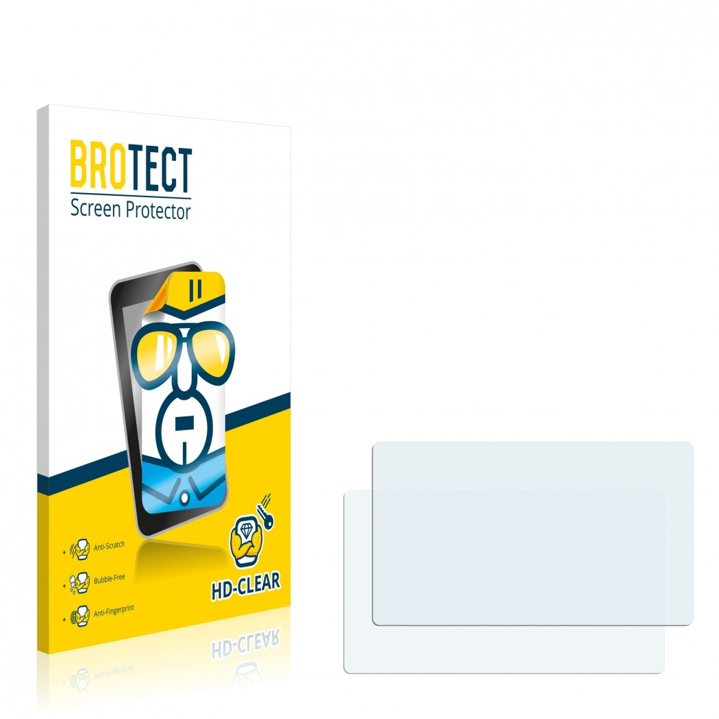 2x BROTECT® HD-Clear Screen Protector for Audi MMI 2G (High)