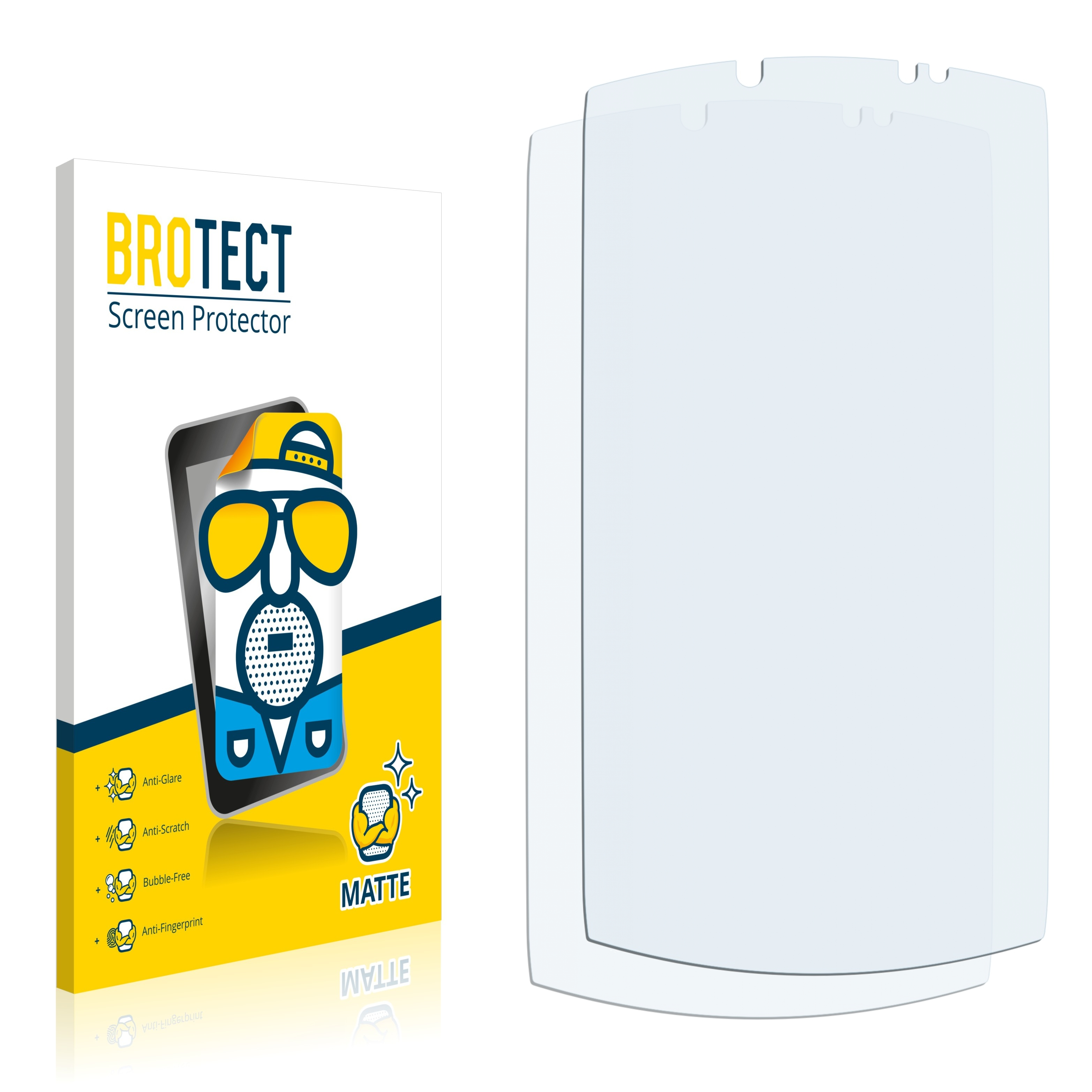 Matná ochranná fólie BROTECT pro Acer S500 CloudMobile, 2 ks