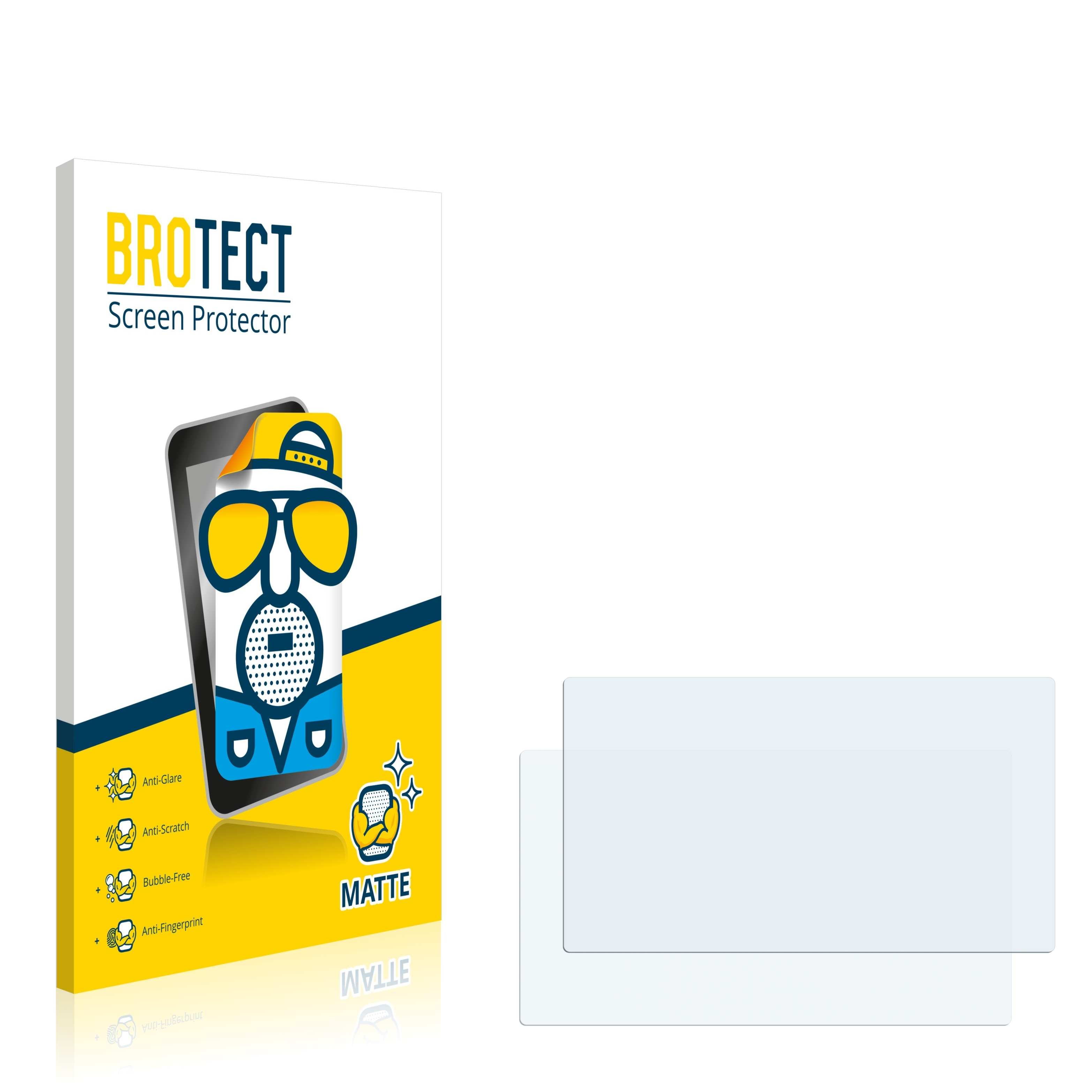 Matná ochranná fólie BROTECT pro Snooper S6400 Ventura Pro, 2 ks