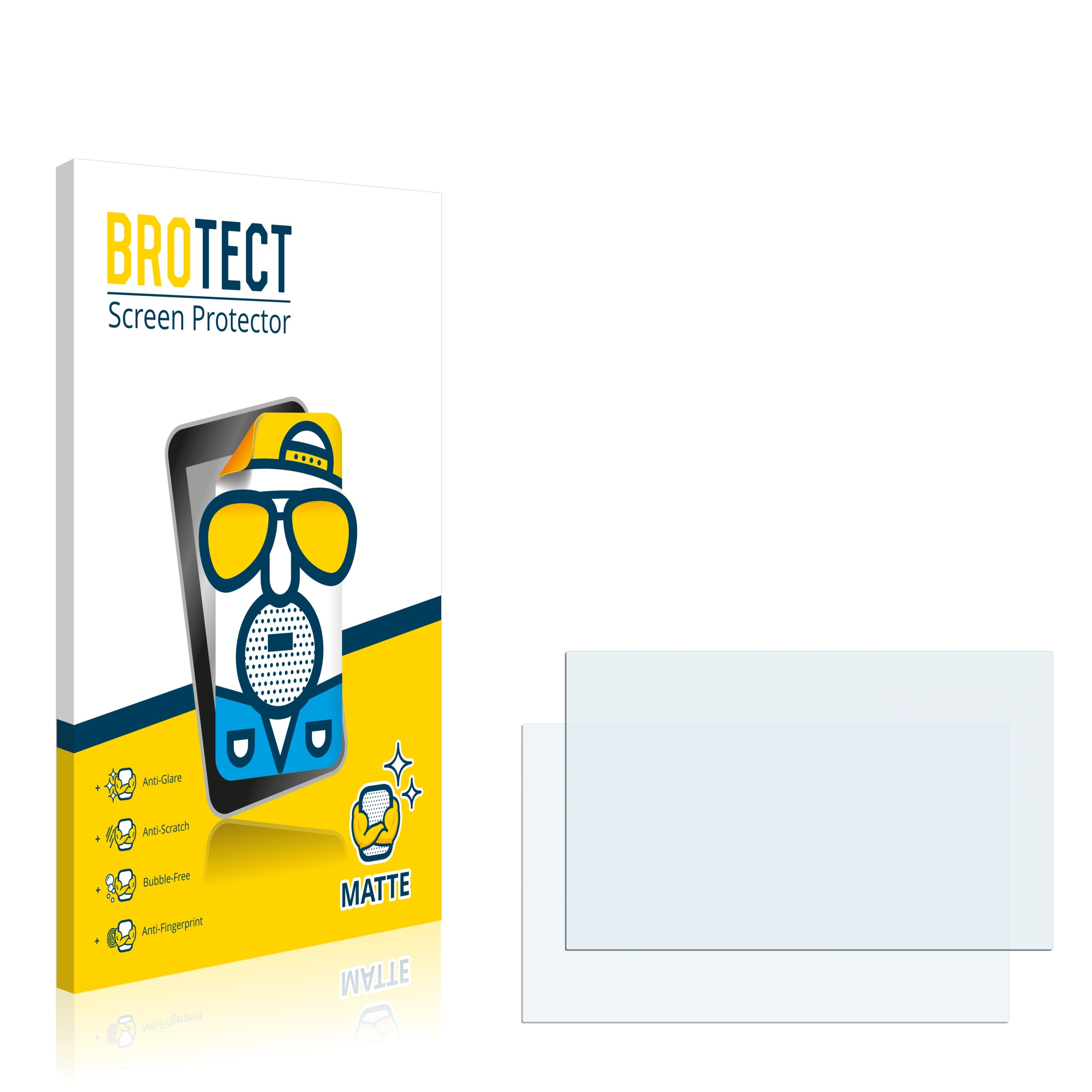 2x BROTECT Screen Protector for Audi MMI 3G Protection Film High