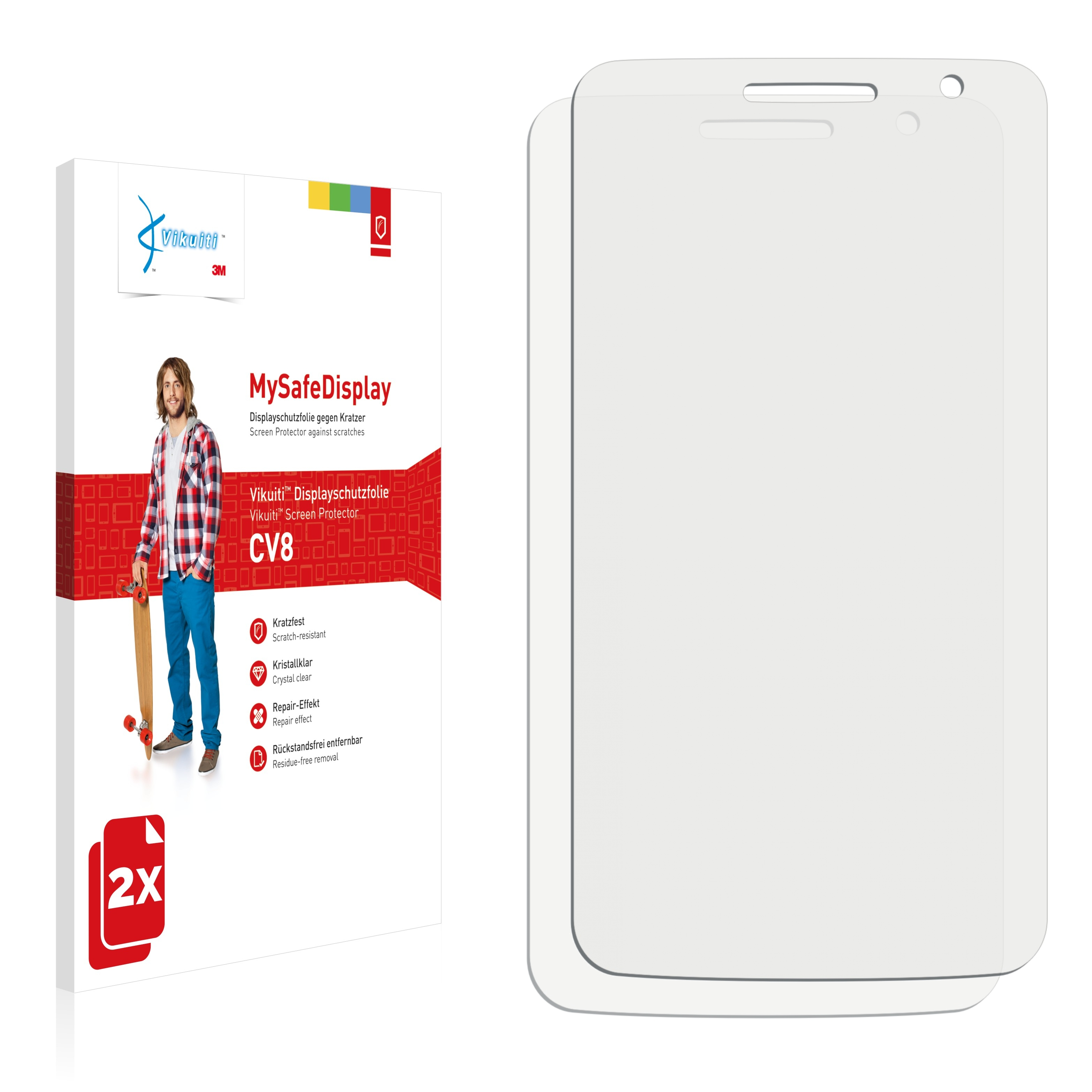 Ochranná fólie CV8 od 3M pro Alcatel One Touch OT-8008X Scribe HD, 2ks
