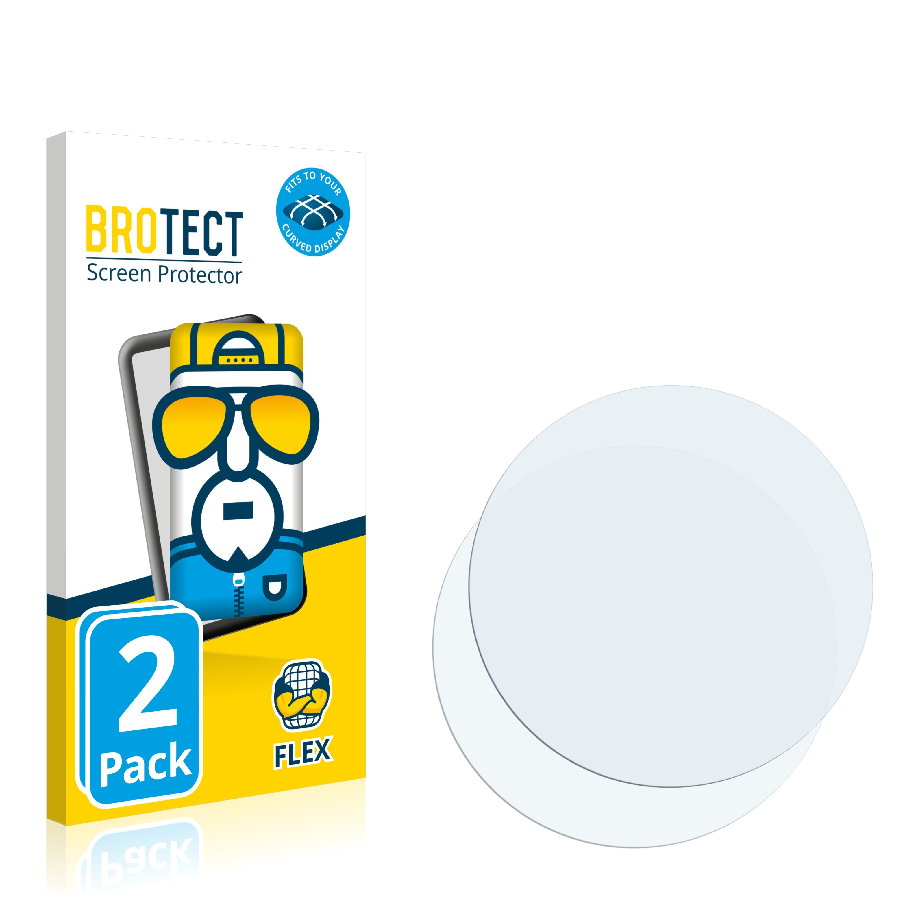 Ochranná fólie BROTECT Flex Full-Cover pro Azorex Smartwatch Q88, 2ks