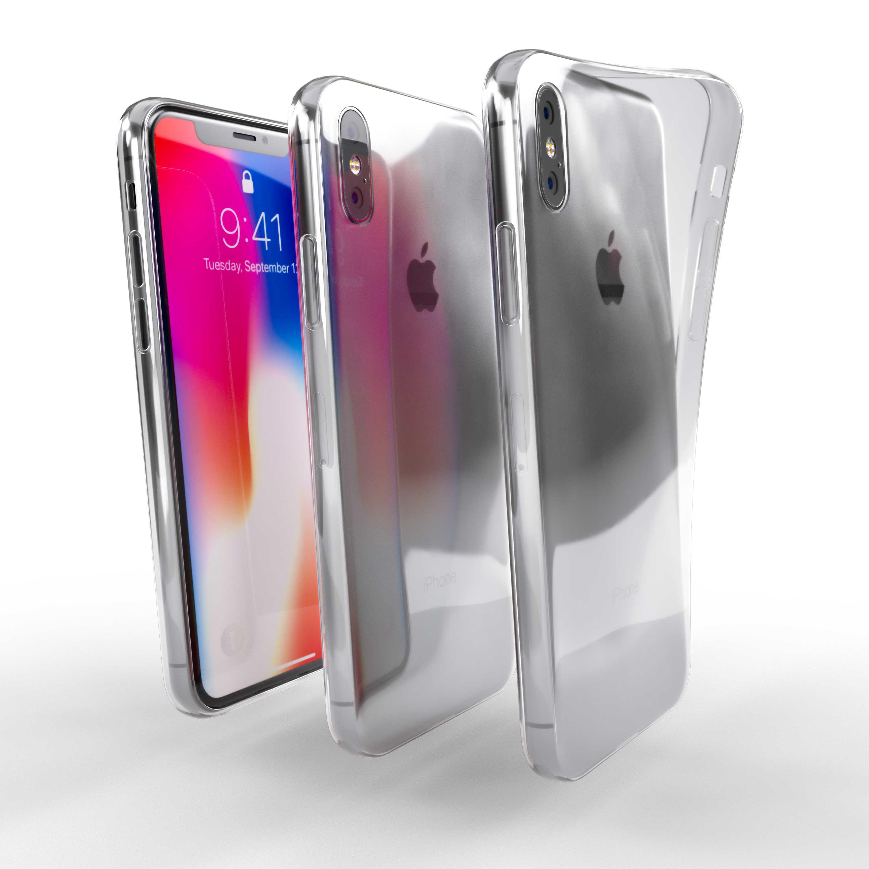Čiré silikonové pouzdro pro Apple iPhone X