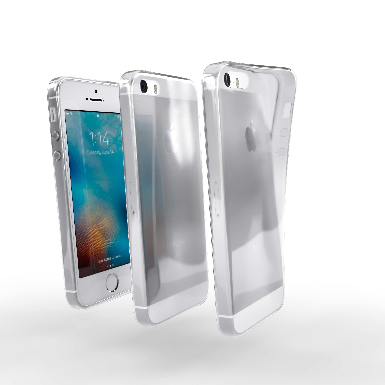 Čiré silikonové pouzdro pro Apple iPhone 5S
