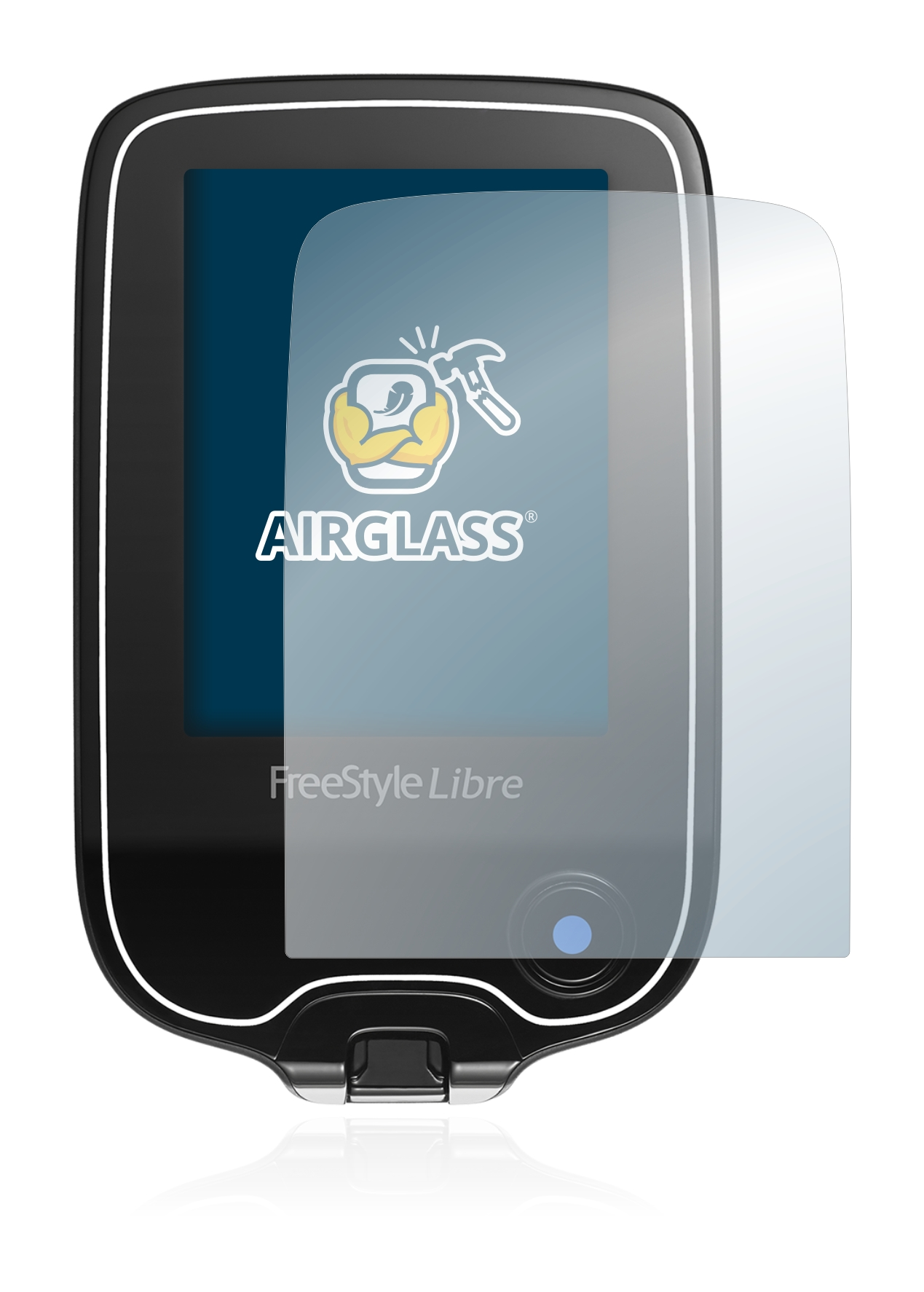 BROTECT AirGlass Glass Screen Protector for Freestyle Libre 2 Ultra-Light Screen Guard Extra-Hard