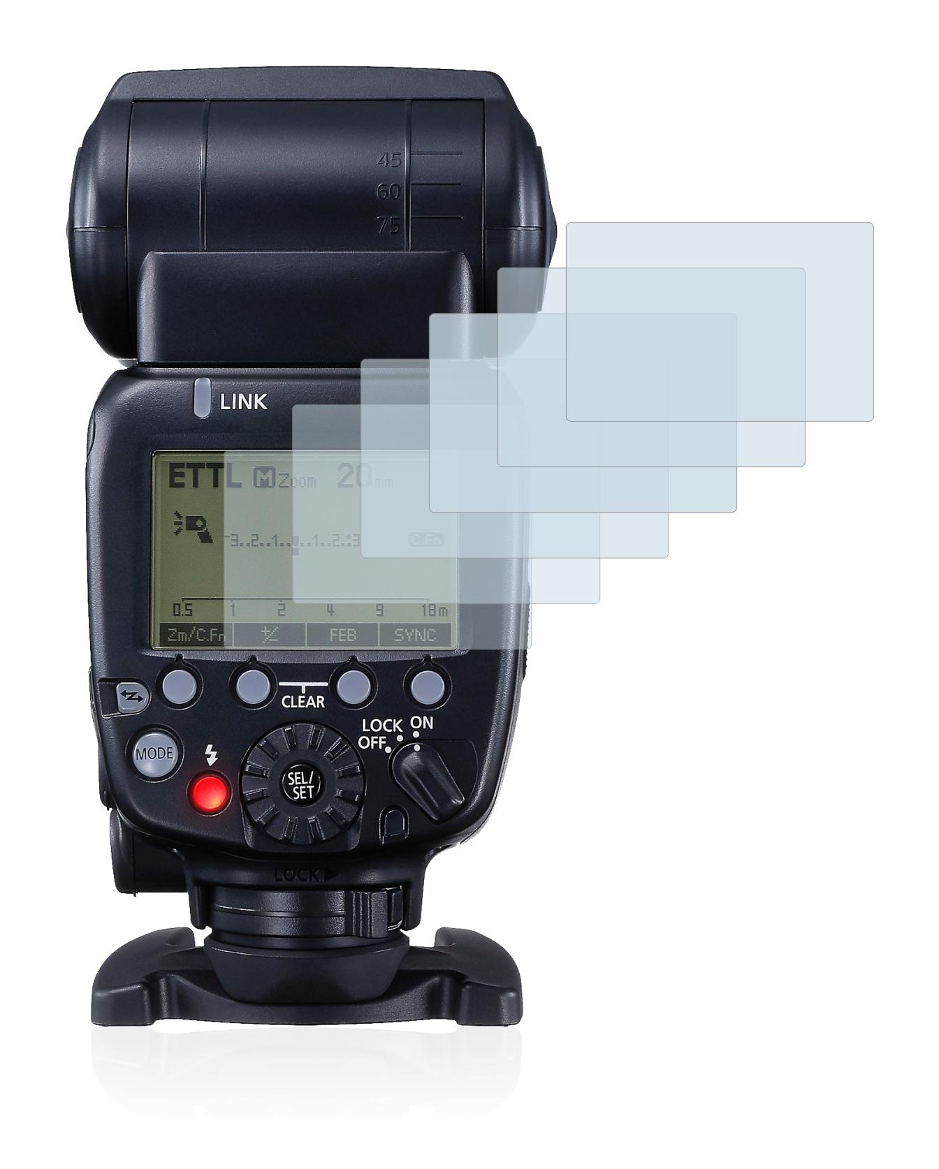 6x Pellicola protettiva display Canon Speedlite 600ex-rt Flash Pellicola Protettiva Display Pellicola