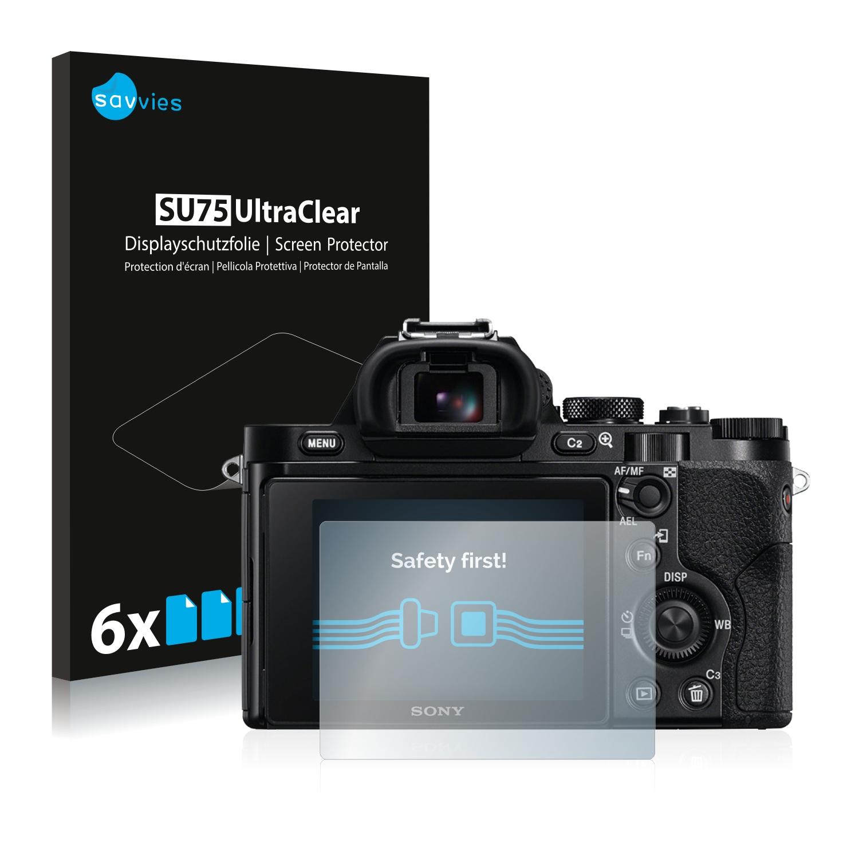 6x láminas protectoras de pantalla para Sony Alpha 7r ILCE - 7r claro transparente