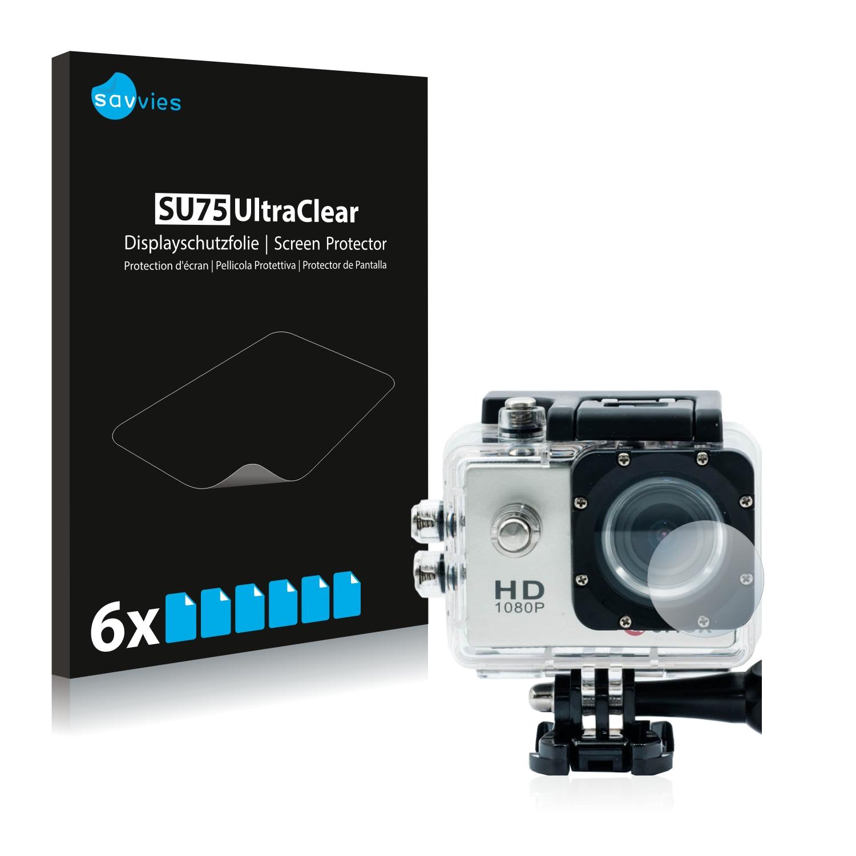 Ochranná fólie Savvies na Qumox SJ4000 Sports HD DV Action Cam Linse (Kryt), 6ks