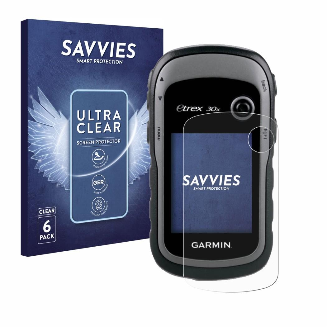 6x Savvies® Screen Protector for Garmin eTrex 30x