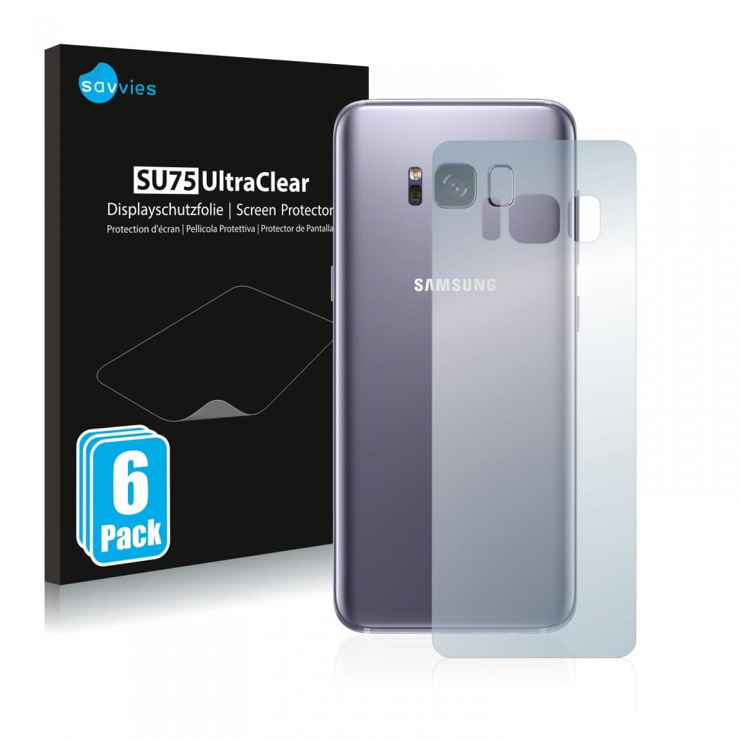 quality design c50cb e3e51 6x Savvies® Screen Protector for Samsung Galaxy S8 (Back)
