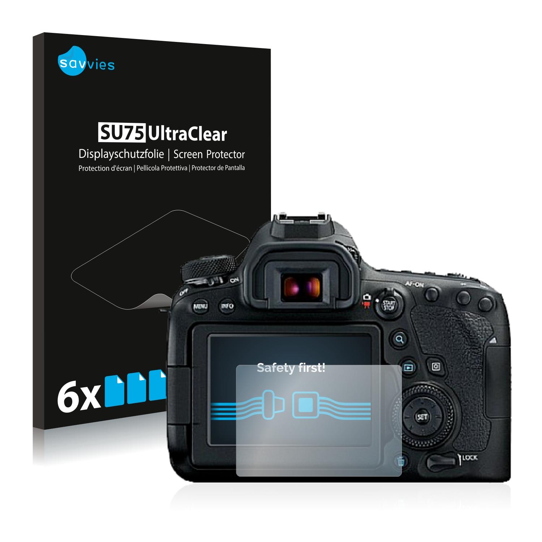 6x Pellicola Protettiva per Canon EOS 5D Mark II Protezione Proteggi Schermo