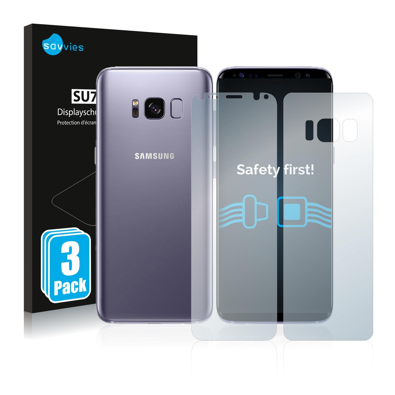Ochranná fólie Savvies na Samsung Galaxy S8 (Přední strana + Zadní strana), 6ks