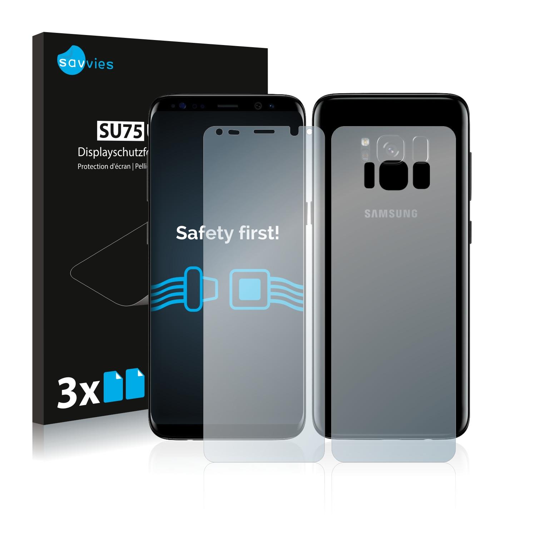 Ochranná fólie Savvies na Samsung Galaxy S8 Plus (Přední strana + Zadní strana), 6ks