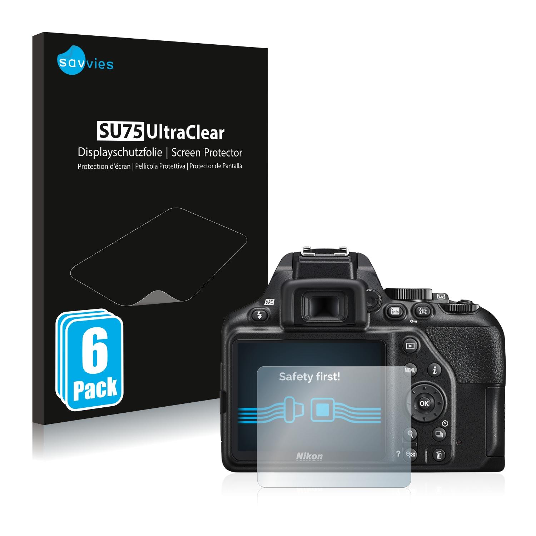 6x Protector Pantalla para Nikon Z 6 Pelicula Protectora Transparente