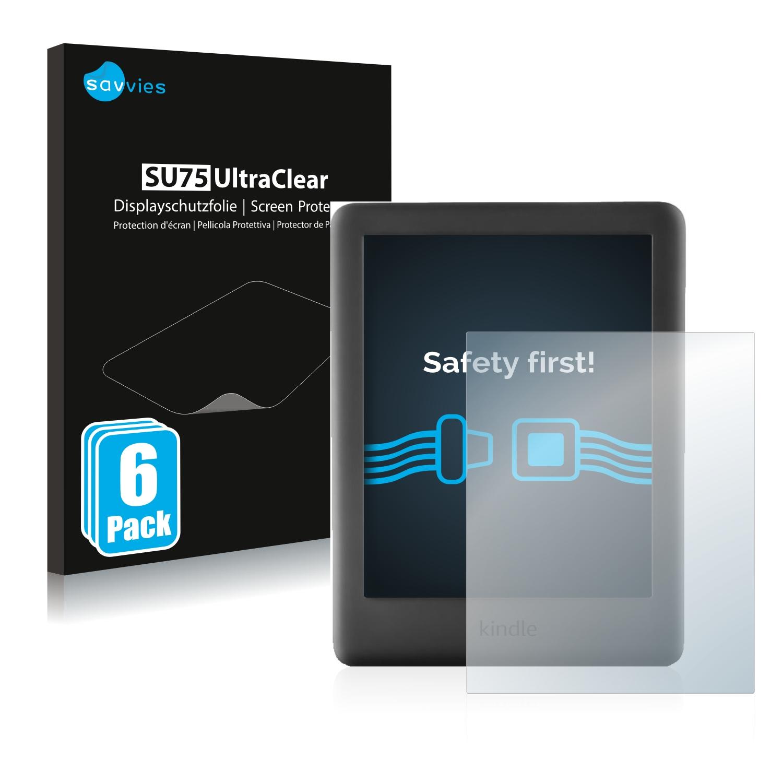 Claro L/ámina Protectora 2X Bruni Pel/ícula Protectora Compatible con Amazn Kindl Oasis Model 2019 Protector Pel/ícula