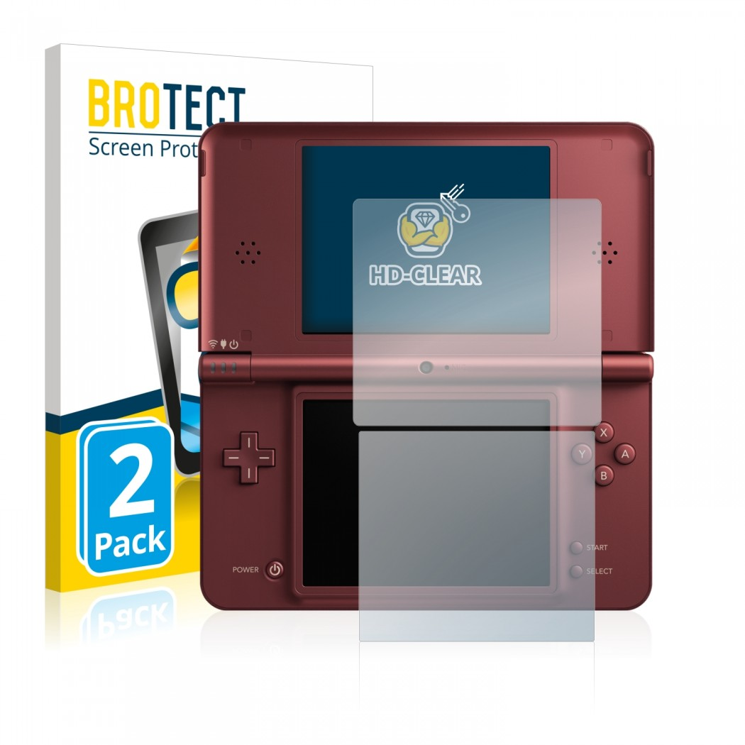 2x BROTECT® HD-Clear Screen Protector for Nintendo DSi XL on