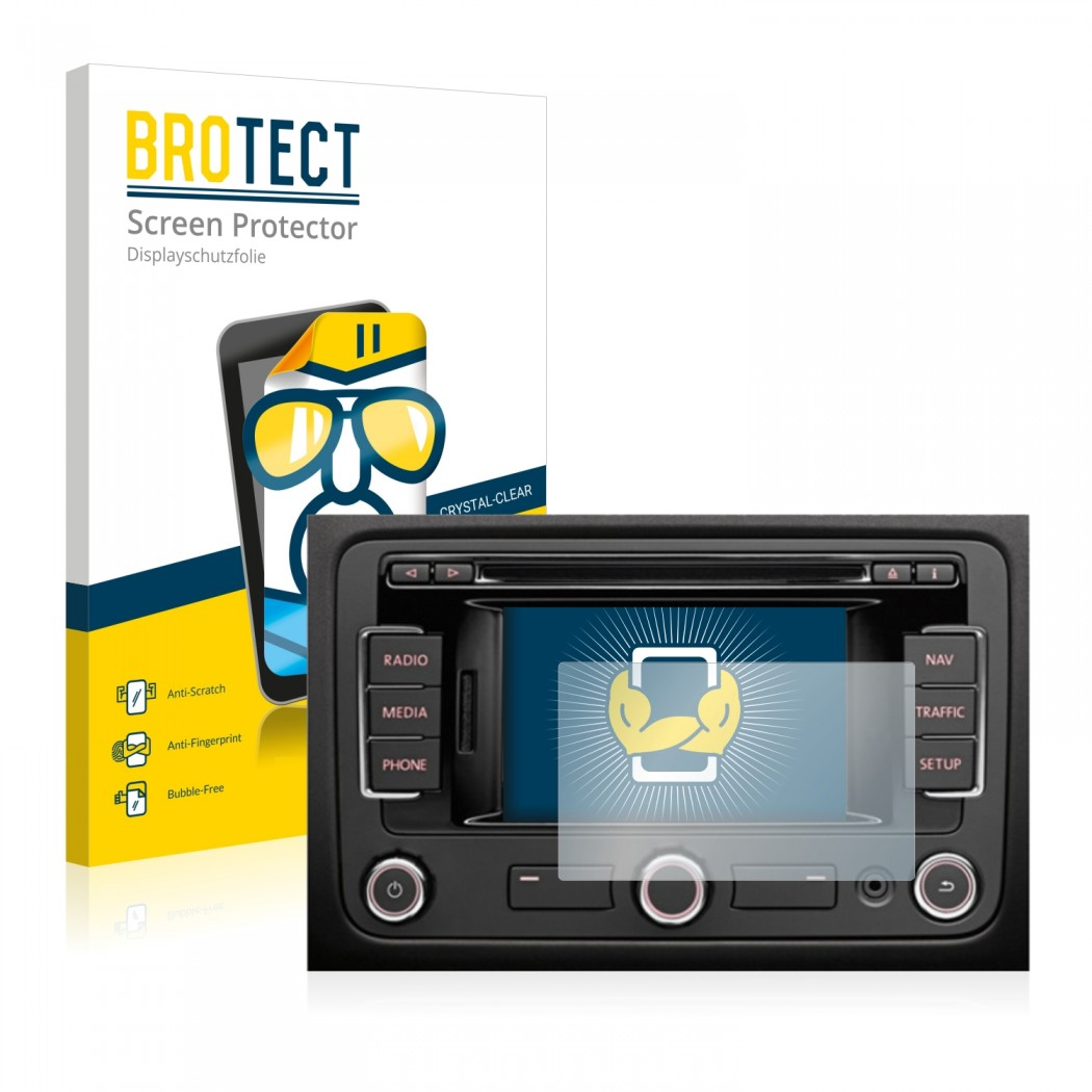 2x BROTECT® HD-Clear Screen Protector for Volkswagen RNS-315 Navigation  System