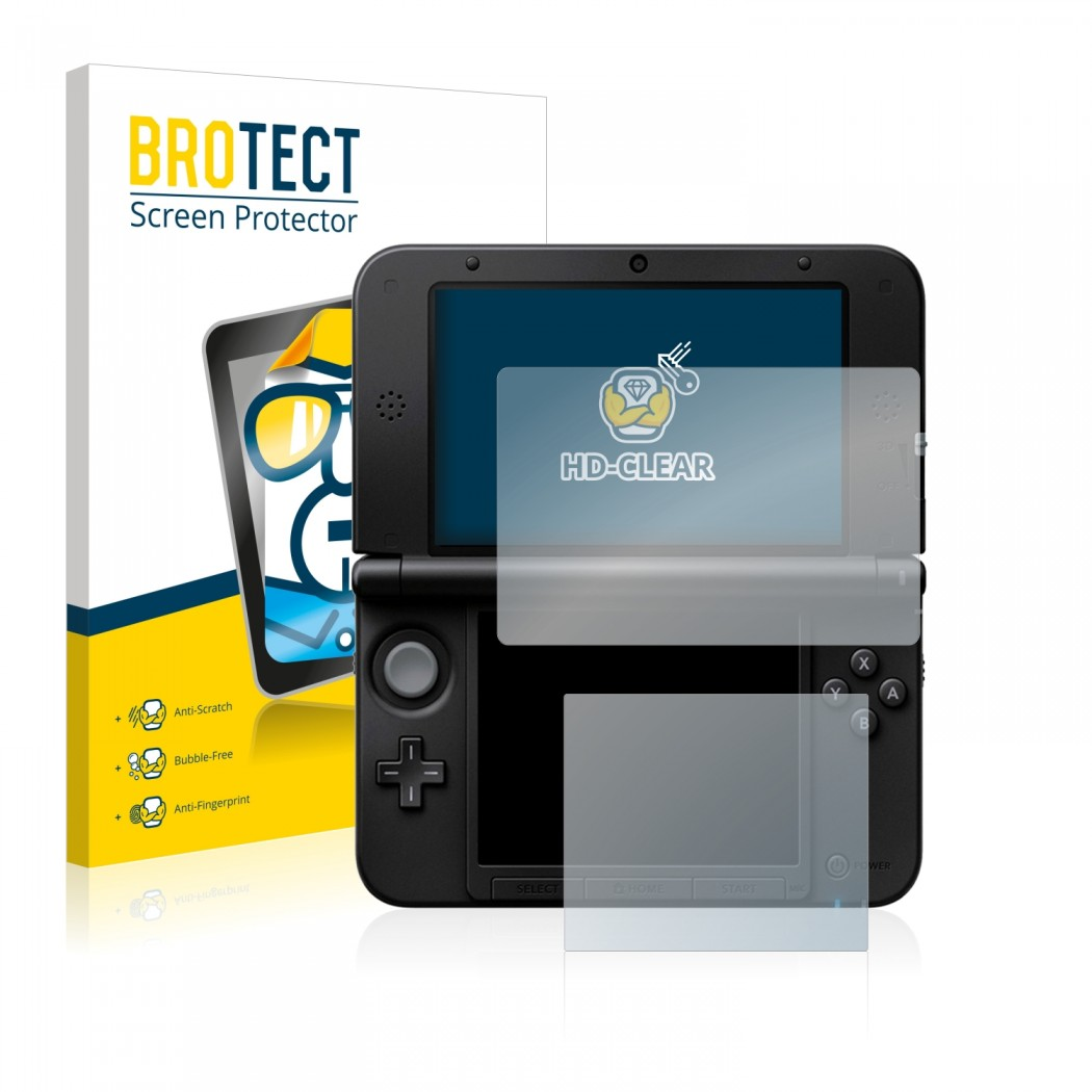 2x BROTECT® HD-Clear Screen Protector for Nintendo 3DS XL SPM7800 on