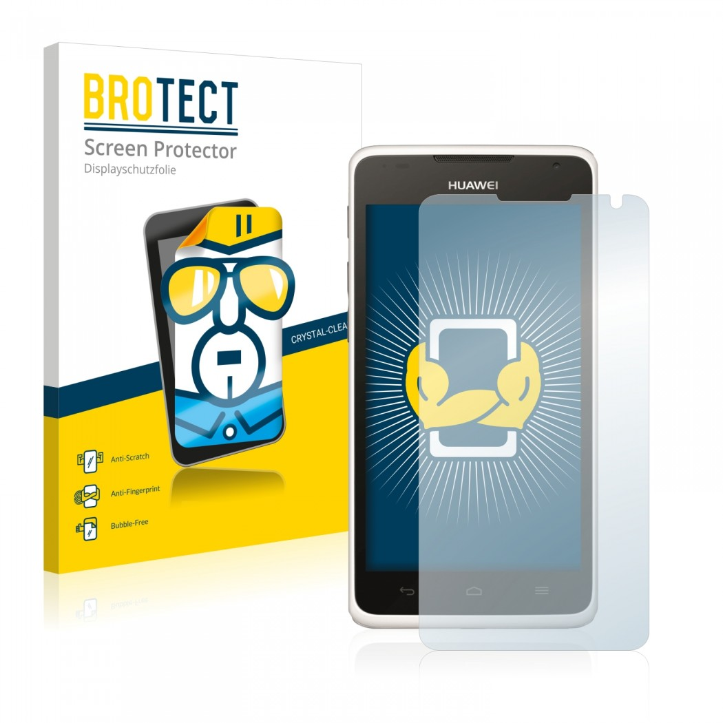 2x BROTECT® HD-Clear Screen Protector for Huawei Ascend Y530