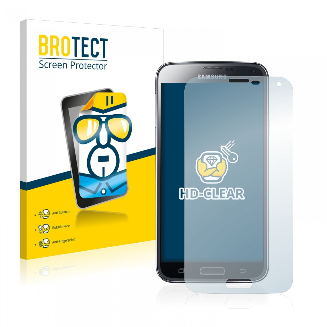 2x BROTECT® HD-Clear Screen Protector for Samsung Galaxy S5 SM-G900I  SM-G900F