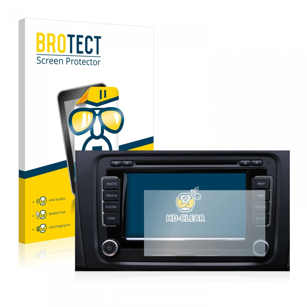 2x BROTECT® HD-Clear Screen Protector for Volkswagen RNS-510 Navigation  System