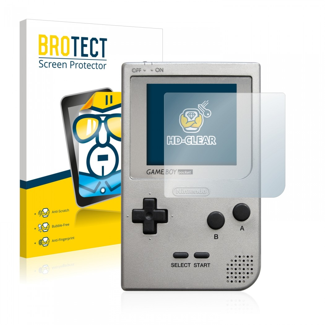 2x BROTECT® HD-Clear Screen Protector for Nintendo Gameboy Pocket