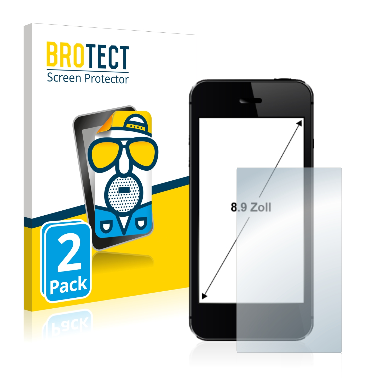 """Matná ochranná fólie BROTECT pro Telefon s displejem 8.9"""" palce [196.8 mm x 110.6 mm, 16:9], 2 ks"""