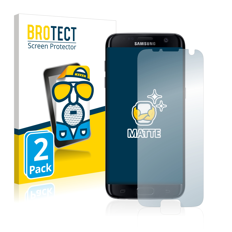 Matná ochranná fólie BROTECT pro Samsung Galaxy S7 Edge, 2 ks