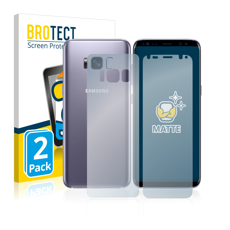 Matná ochranná fólie BROTECT pro Samsung Galaxy S8 (Přední strana + Zadní strana), 2 ks