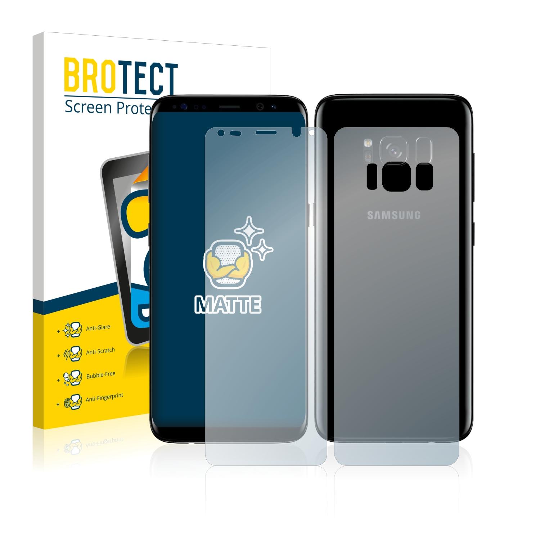 Matná ochranná fólie BROTECT pro Samsung Galaxy S8 Plus (Přední strana + Zadní strana), 2 ks