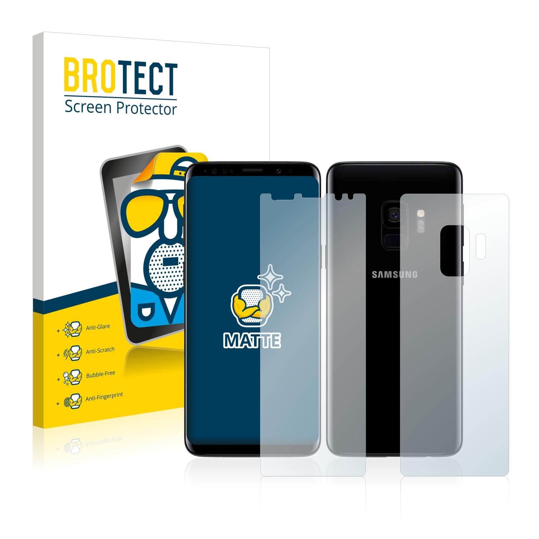 Matná ochranná fólie BROTECT pro Samsung Galaxy S9 (Přední strana + Zadní strana), 2 ks