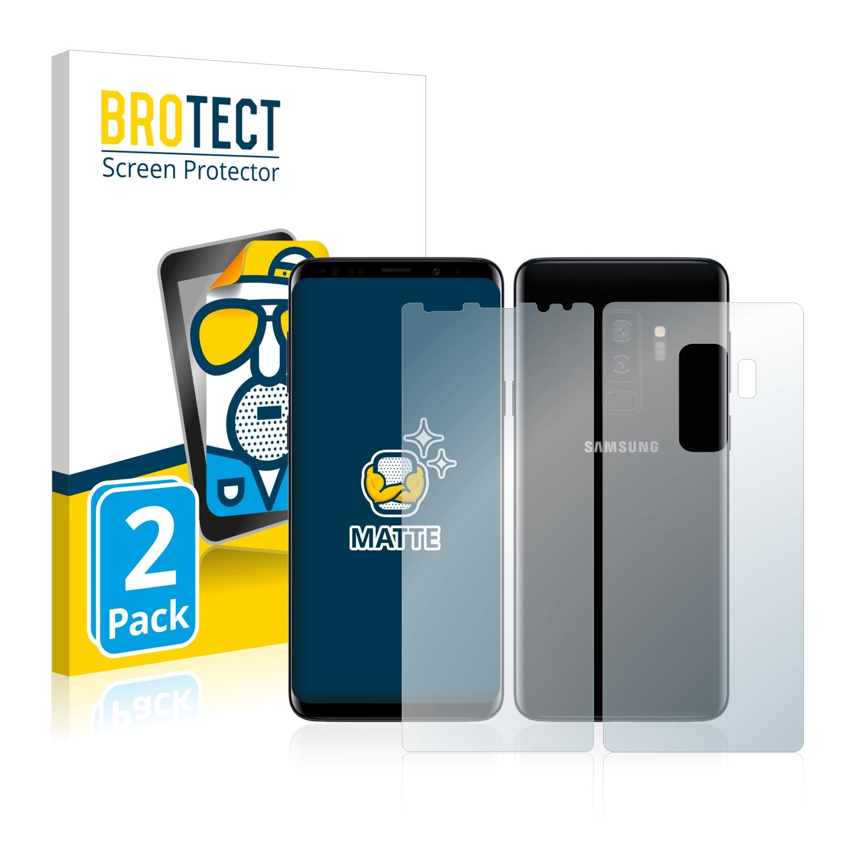 Matná ochranná fólie BROTECT pro Samsung Galaxy S9 Plus (Přední strana + Zadní strana), 2 ks