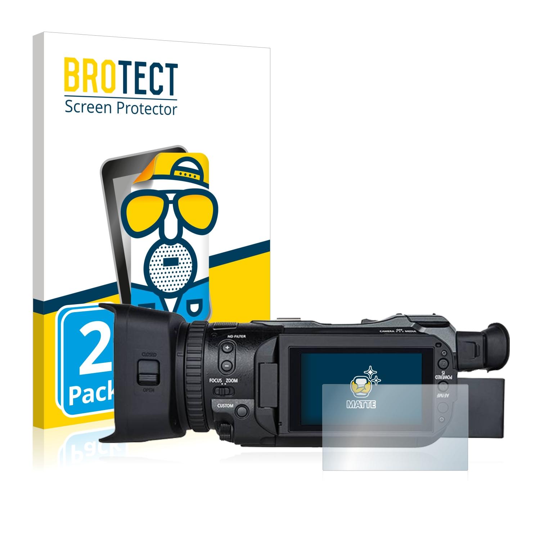 2x BROTECT Displayschutzfolie Klar Canon Legria GX10 Schutzfolie Folie
