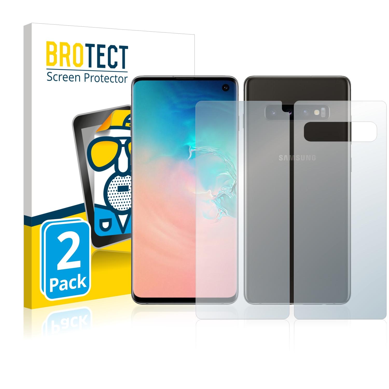 Matná ochranná fólie BROTECT pro Samsung Galaxy S10 (Přední strana + Zadní strana), 2 ks