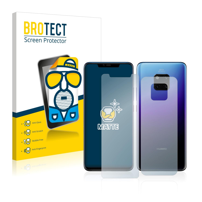 Matná ochranná fólie BROTECT pro Huawei Mate 20 Pro (Přední strana + Zadní strana), 2 ks