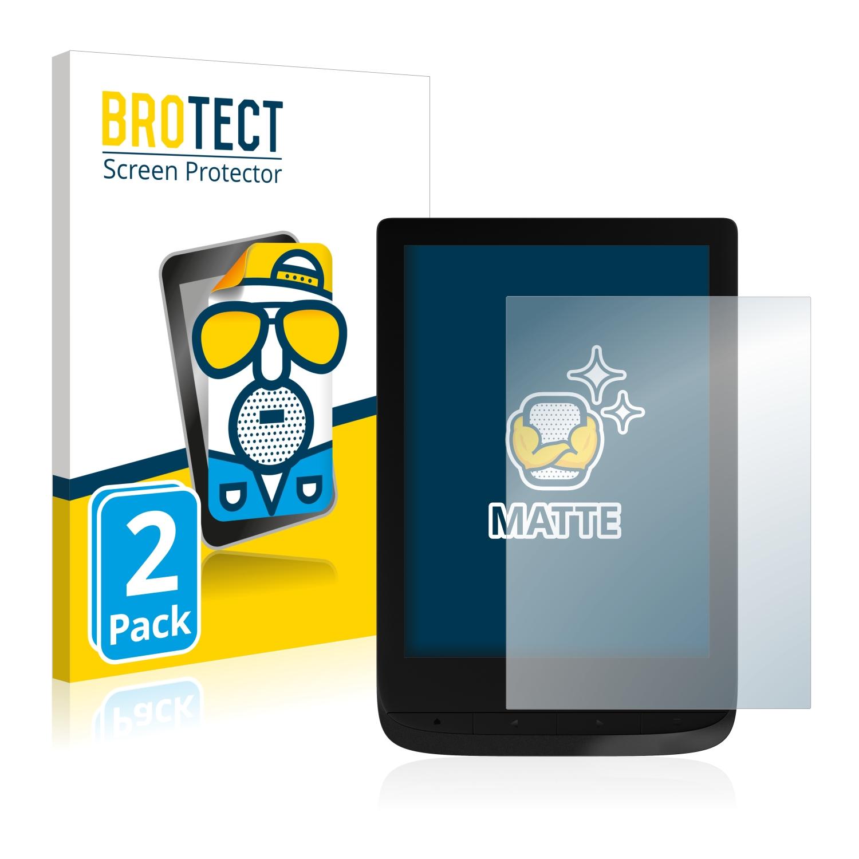 Anti-Huella Anti-Reflejos upscreen Protector de Pantalla Mate Compatible con Pocketbook Touch Lux 4 Pel/ícula Protectora Antibacteriana