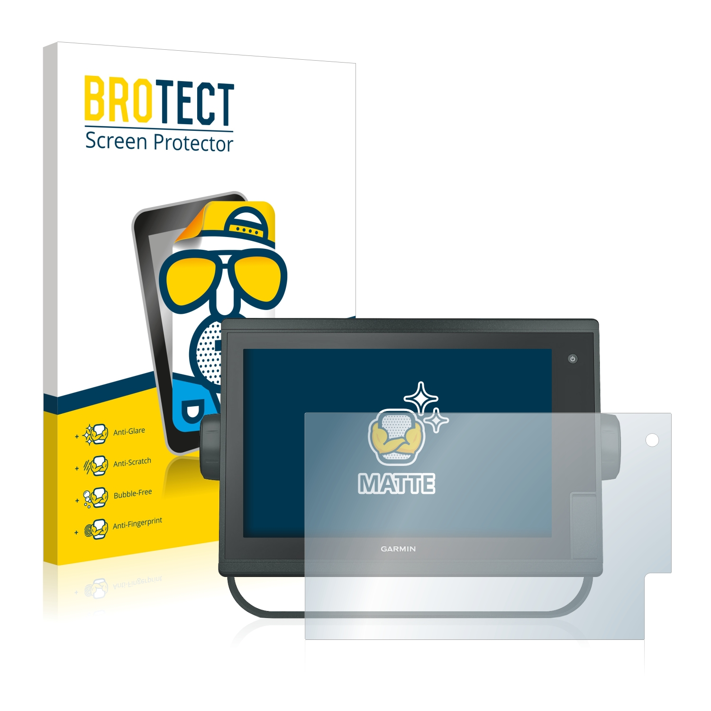 upscreen Screen Protector Matte compatible with Garmin Montana 600 Anti-Bacteria Protection Film Anti-Fingerprint Anti-Glare