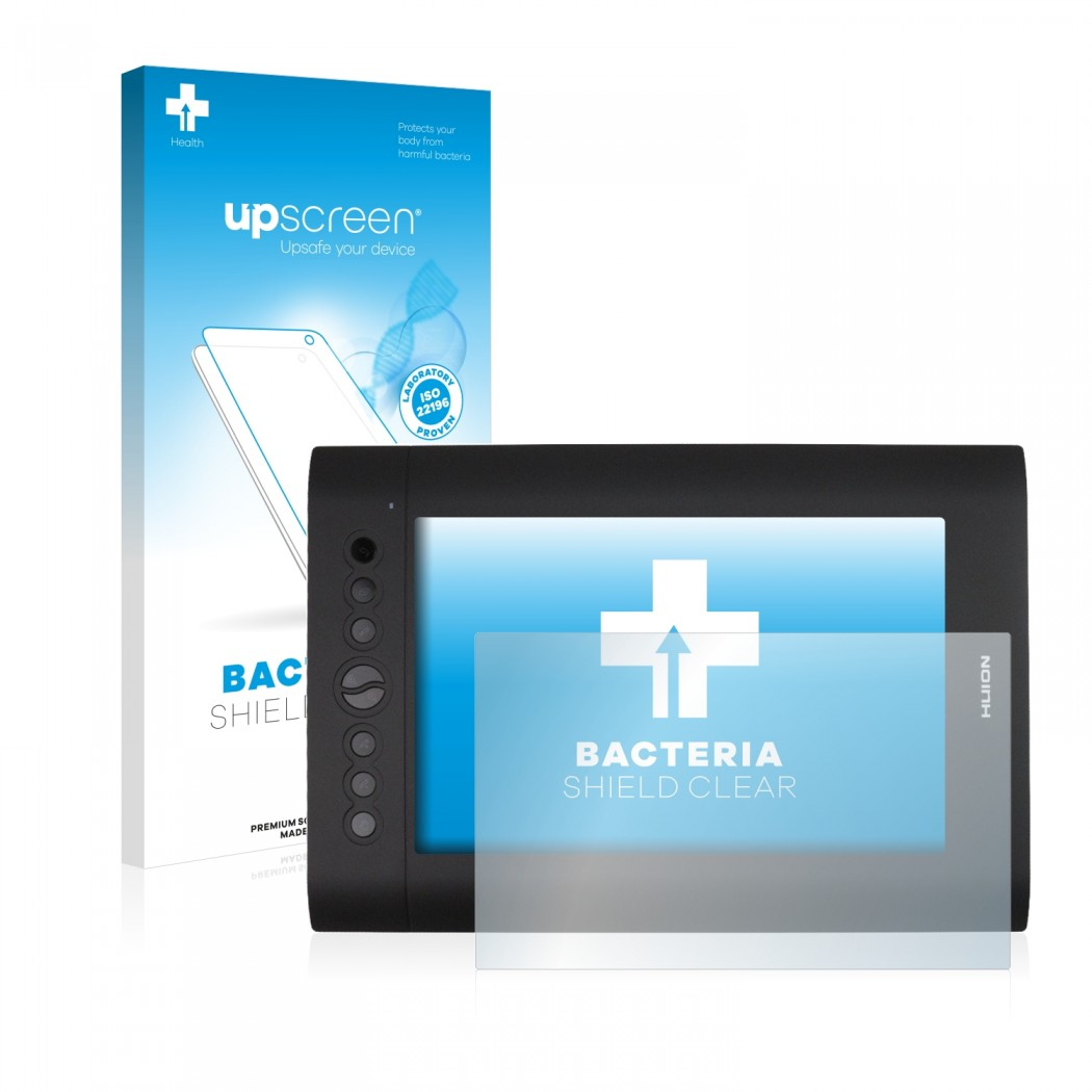 upscreen® Bacteria Shield Clear Protector for Huion H610 Pro