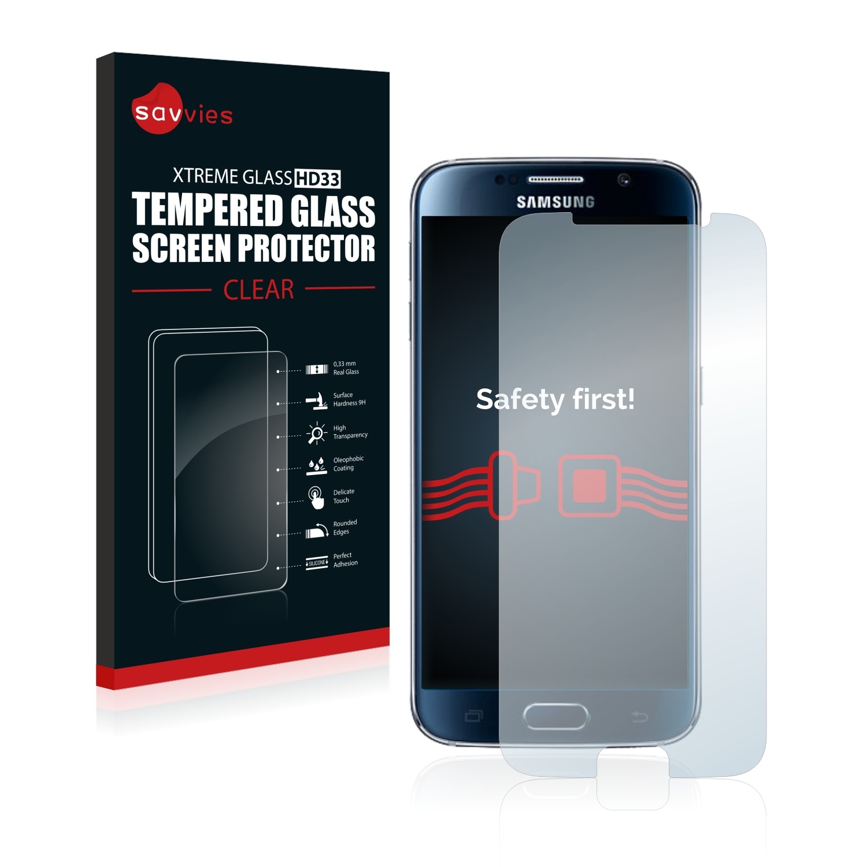 Tvrzené sklo Savvies Xtreme Glass HD33 pro Samsung Galaxy S6