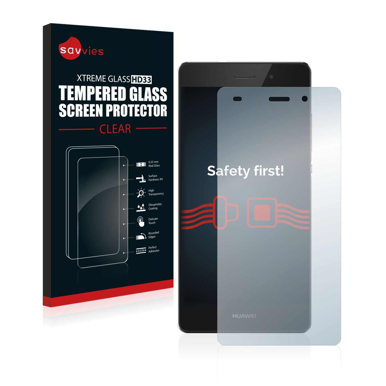 tempered glass screen protector for huawei p8 lite 2015 2016 ebay. Black Bedroom Furniture Sets. Home Design Ideas