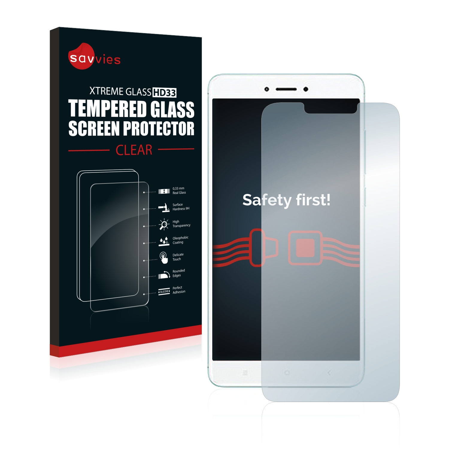 Tempered Glass Screen Protector For Xiaomi Redmi 4x 4059181811208 Ebay Full Cover Savvies Hd33 Clear