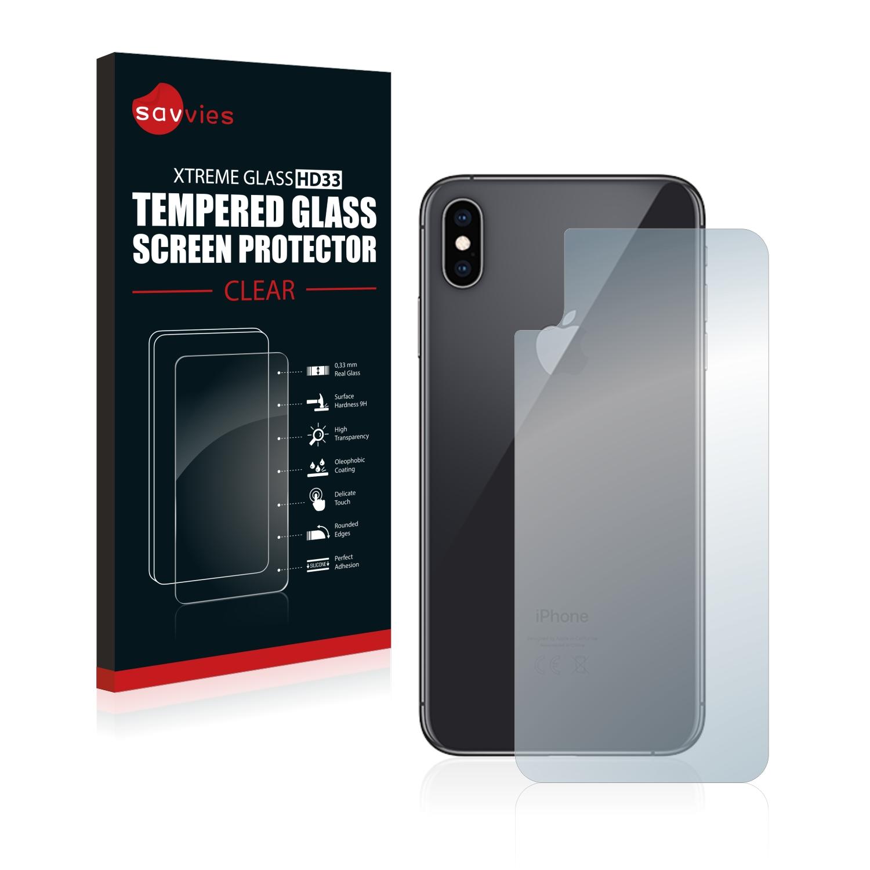Tvrzené sklo Savvies Xtreme Glass HD33 pro Apple iPhone Xs Max (Zadní strana)
