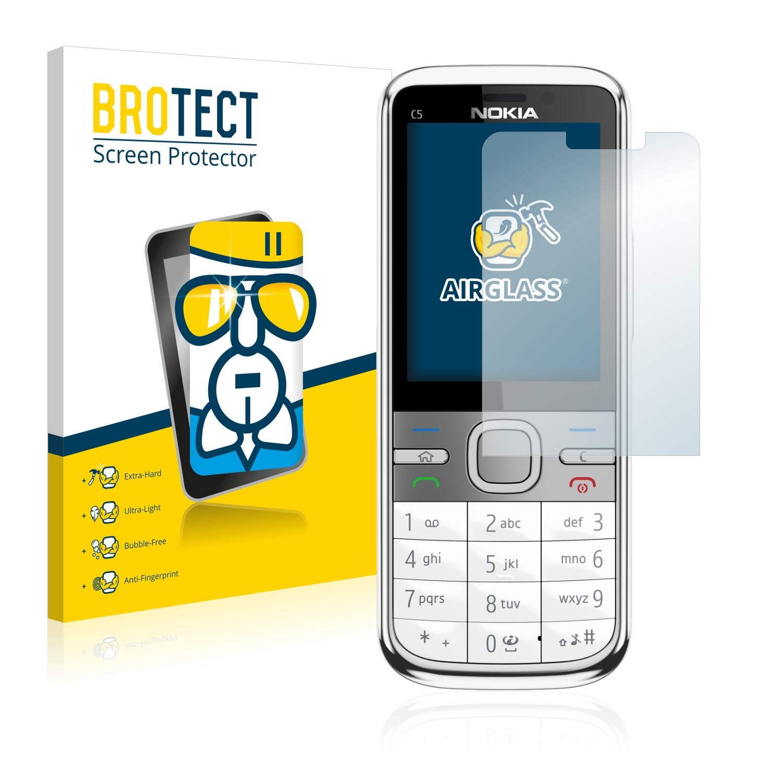 BROTECT AirGlass čirá skleněná fólie pro Nokia C5-00 5MP