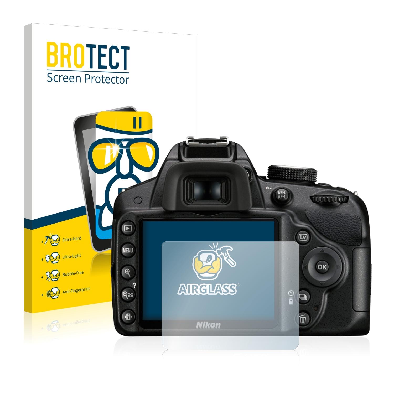 BROTECT AirGlass čirá skleněná fólie pro Nikon D3200