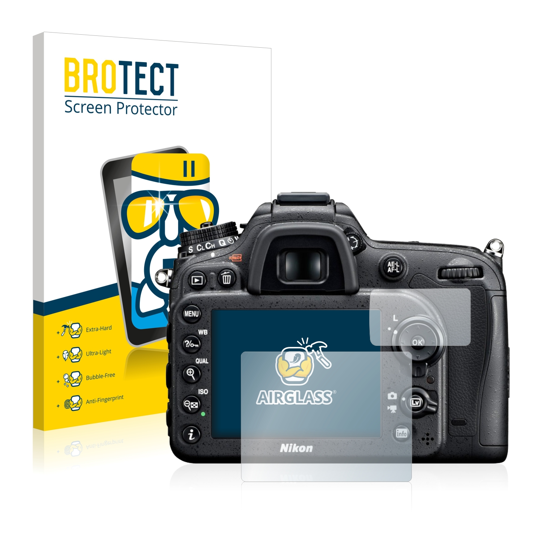 BROTECT AirGlass čirá skleněná fólie pro Nikon D7100