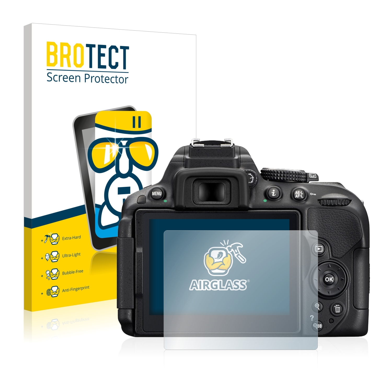 BROTECT AirGlass čirá skleněná fólie pro Nikon D5300