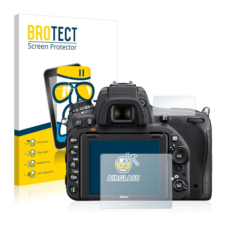 BROTECT AirGlass čirá skleněná fólie pro Nikon D750